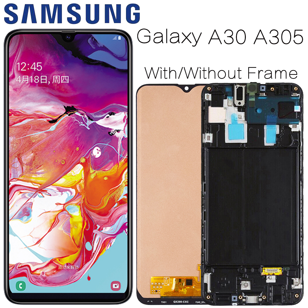 AMOLED For <font><b>Samsung's</b></font> <font><b>Galaxy</b></font> <font><b>A30</b></font> SM-A305F Display <font><b>lcd</b></font> Screen replacement for <font><b>Samsung</b></font> <font><b>A30</b></font> A305 A305F display <font><b>lcd</b></font> screen module image