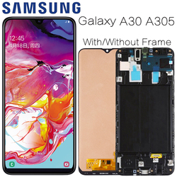 AMOLED do samsunga Galaxy A30 SM A305F wyświetlacz wymiana ekranu lcd do Samsung A30 A305 A305F wyświetlacz moduł ekranu lcd w Ekrany LCD do tel. komórkowych od Telefony komórkowe i telekomunikacja na