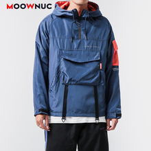 MOOWNUC Outerwear Hip Hop Jackets Kpop Fashion Hombre Coats New Loose Patchwork Men's Clothes Spring Dress Boys Casual MWC