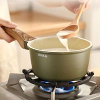 Kitchen Creative MINI Cate Maker Small milk wok with wheat stone NonStick Sauce Pan With Pot Cover frying pans be in common use