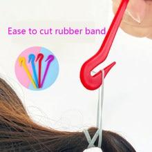 4/2/1 pçs bandas de cabelo cortador de borracha não ferido cabelo borracha banda removedor ferramenta salão de beleza headwear corte faca estilo acessórios