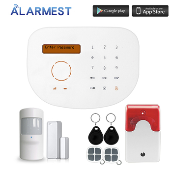 Burglar Alarm System GSM RFID Home Security System 433Mhz Door Motion Sensor цена 2017
