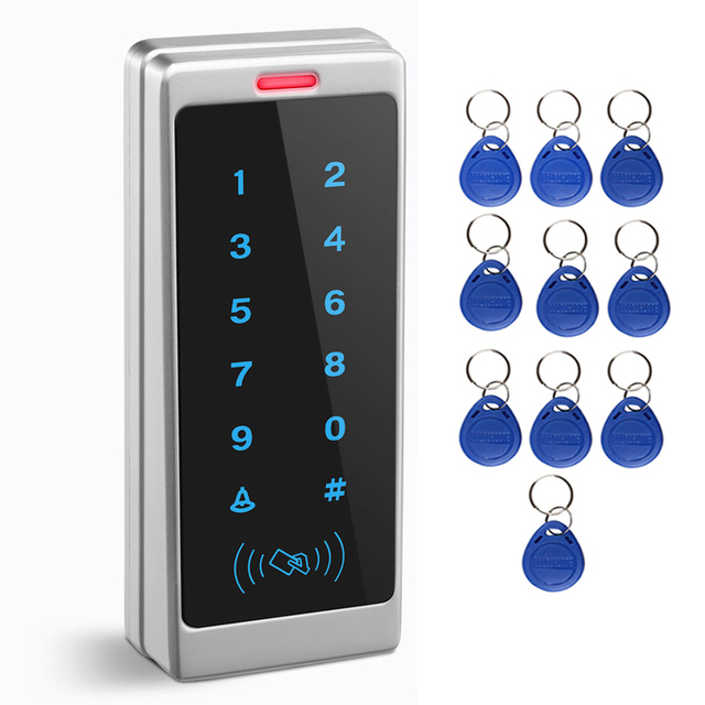 Support 1000Card and 500Password Touch Keypad Entry System Office Access Waterproof Access control Wiegand RFID Card Reader