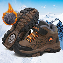 Buy kids shoes Winter boots for boys girls boys snow shoes teenagers boys Warm Hiking Shoes for Boys Outdoor Sports Non-Slip Shoes directly from merchant!