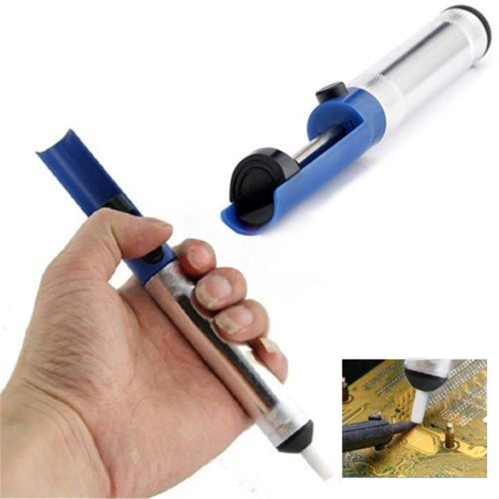 Professional Solder Sucking Desoldering Pump Tool Powerful Removal Vacuum Soldering Iron Desolver Removal Device
