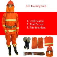 Костюм пожарной службы 97 пожарный тренировочный костюм 02 огнестойкий костюм миниатюрная пожарная станция полное оборудование с шлемом перчатки Пояс для обуви