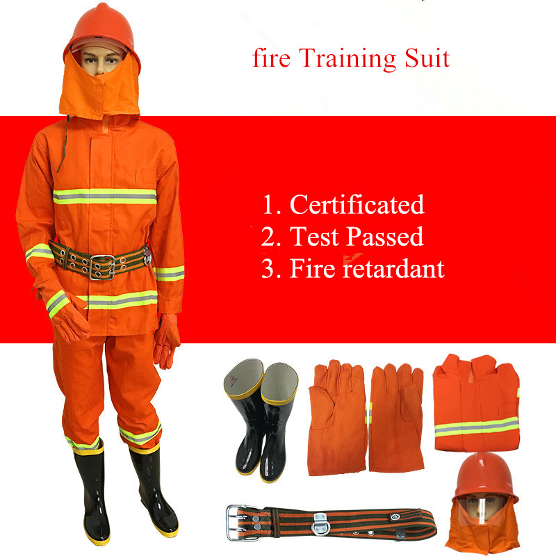 Fire Service Suit 97 Fire Training Suit 02 Fireproof Suit Miniature Fire Station Complete Equipment With Helmet Gloves Boot Belt