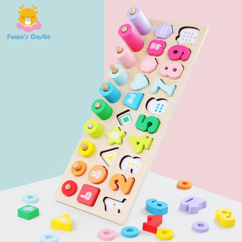 цена на Baby Wooden Toys Montessori Math Toy Teaching Aids Learning Montessori Materials Wooden Montessori Wooden Toy For Children