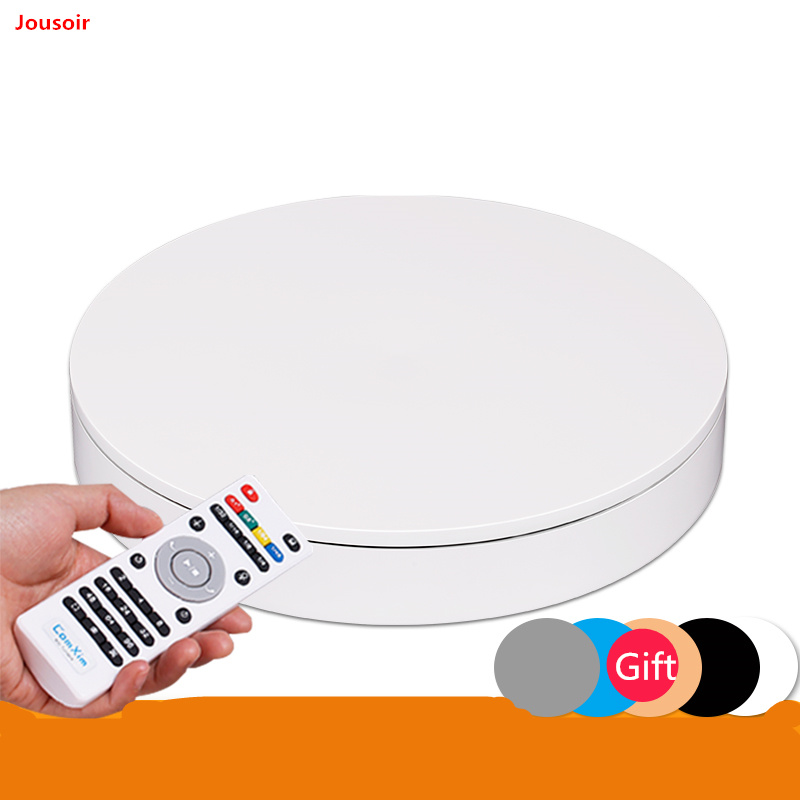 32cm 360 Degree Remote Control Speed Direction Electric Rotating Turntable 3D Scan Photography Display Stand NO00D T03 Y image