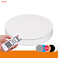 32cm 360 Degree Remote Control Speed Direction Electric Rotating Turntable 3D Scan Photography Display Stand NO00D T03 Y