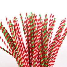Шенилл стебли 29,5 см смешанный цвет 50 шт./партия-рождественские детские пушистые палочки ручной работы