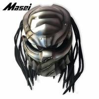 Masei 2019 New Predators helmet flexible strip lighting car styling mask Fiberglass motorcycle Full face Vintage Retro helmet