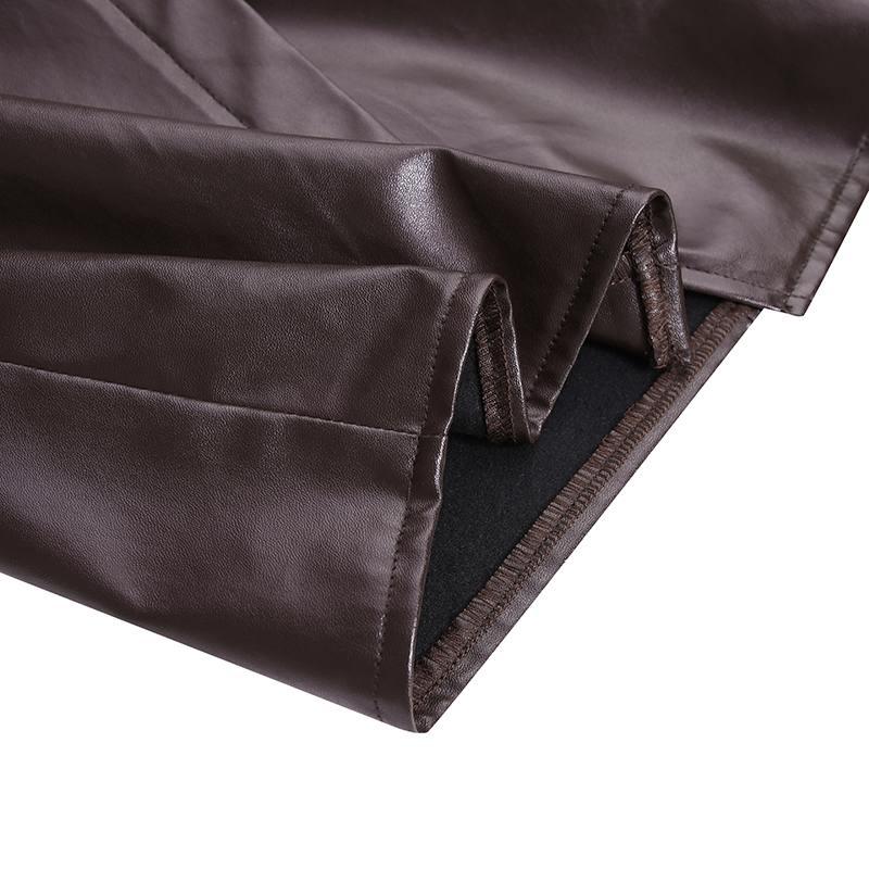 Женская облегающая юбка celmia из искусственной кожи 2021 модная