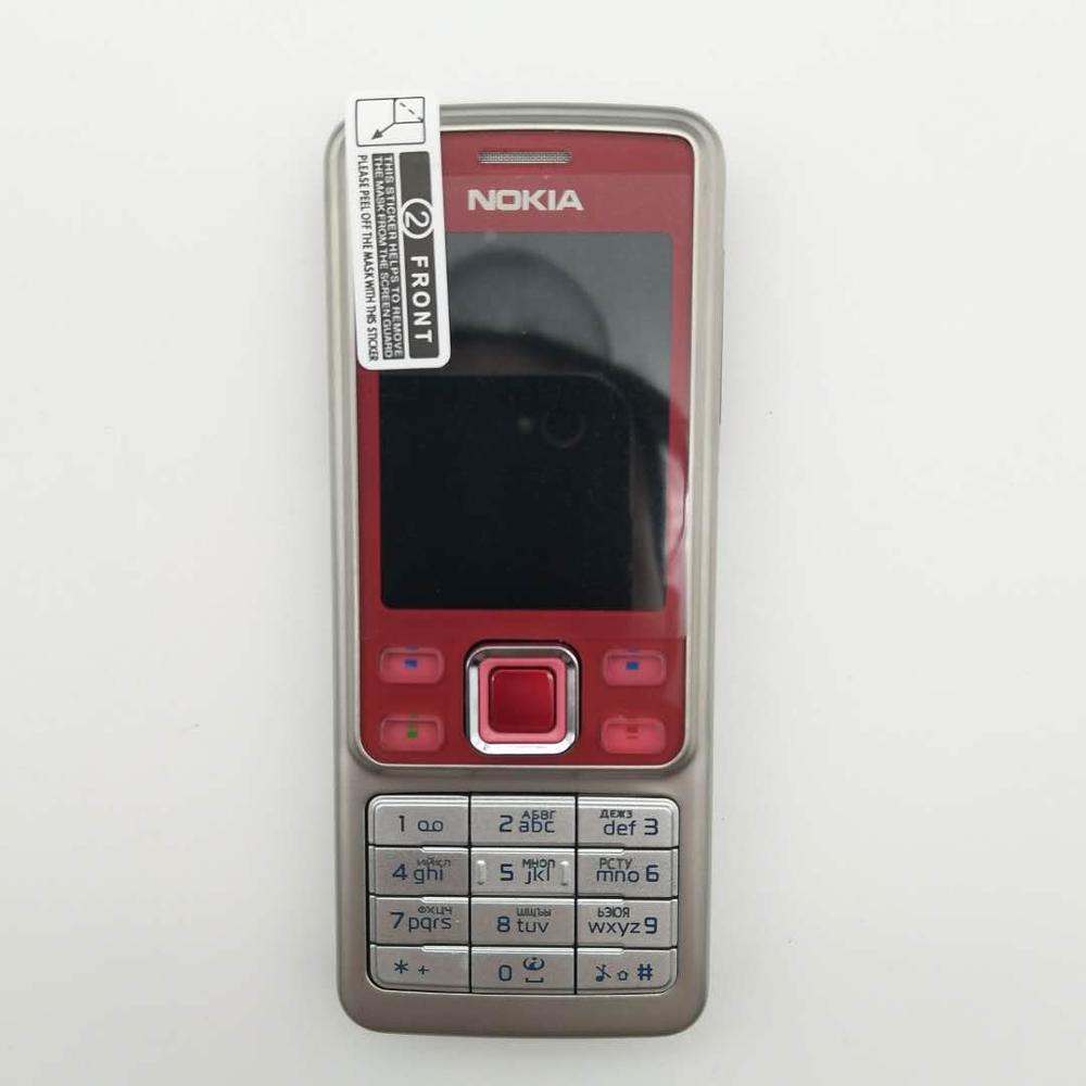 Горячая Распродажа~ разблокированный мобильный телефон Nokia 6300 разблокированный 6300 FM MP3 Bluetooth мобильный телефон один год гарантии - Цвет: Красный