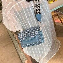 цены ETAILL Fashion Wide Strap Braided Summer Bag Small Handbag Flap Shoulder Bags For Women 2019 Messenger Crossbody PU Leather Bags