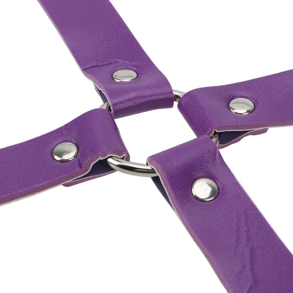 Esposas tobillo OLO PU esposas eróticas flirteo erótico SM vendaje juguetes sexuales para parejas SM Bondage correas productos sexuales