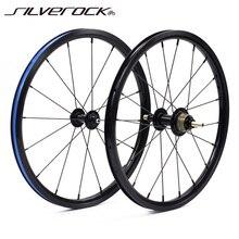 "SILVEROCK 자전거 349 Wheelset 1 3 속도 16x1 3/8 ""Brompton 3 Kinlin NB R 점프 림 sixty Pikes 초경량 접이식 자전거 바퀴"
