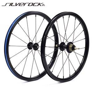 """Image 1 - SILVEROCK Bike 349 set di ruote 1 3 velocità 16x1 3/8 """"kinlin NB R cerchio di salto per Brompton 3sixty Pikes ruote bici pieghevoli ultraleggere"""