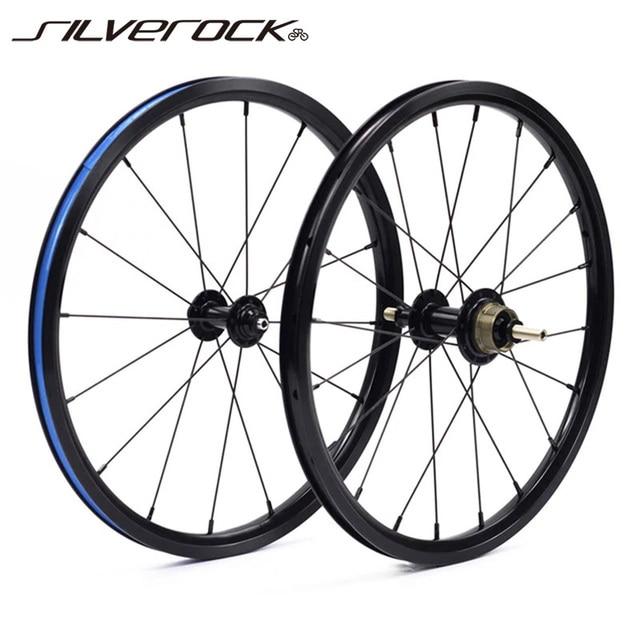 """SILVEROCK Bike 349 set di ruote 1 3 velocità 16x1 3/8 """"kinlin NB R cerchio di salto per Brompton 3sixty Pikes ruote bici pieghevoli ultraleggere"""