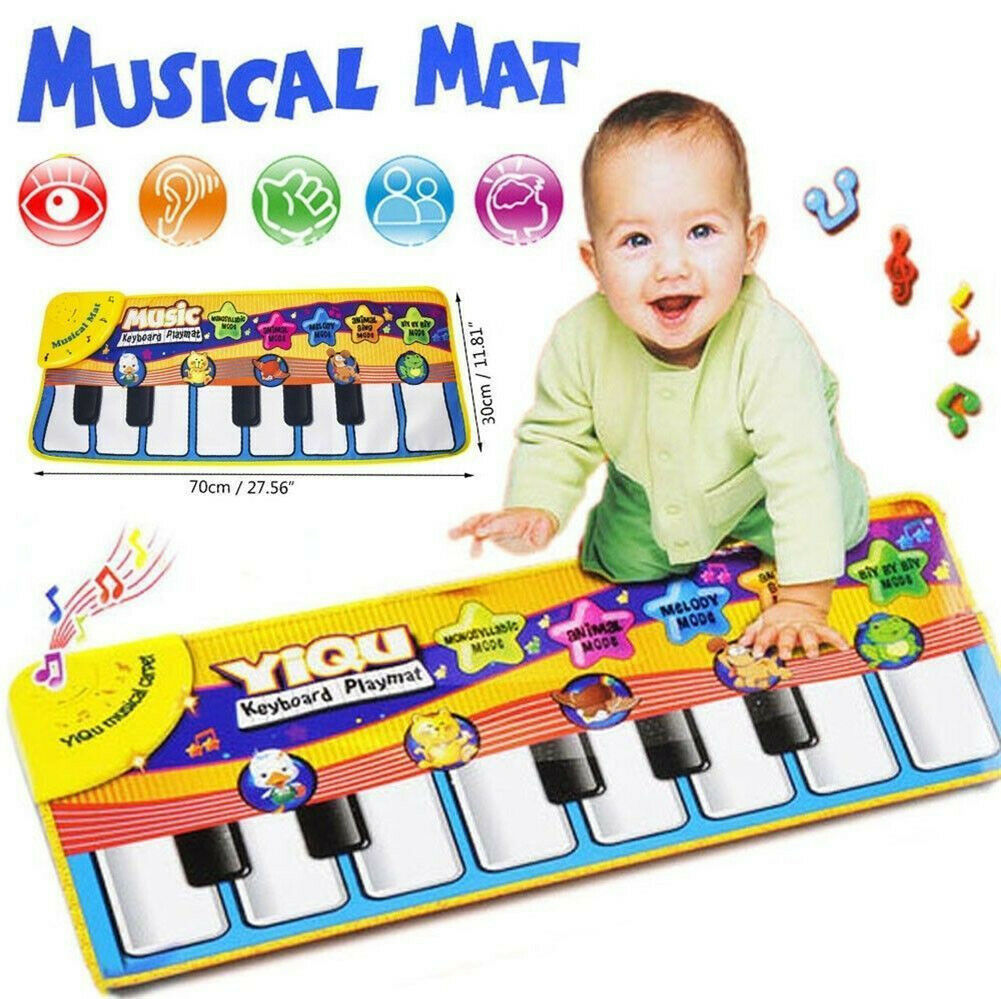 Pudcoco 72*29cm Newest Baby Musical Play Mats Musical Music Kid Piano Play Baby Mat Animal Educational Soft Kick Toy