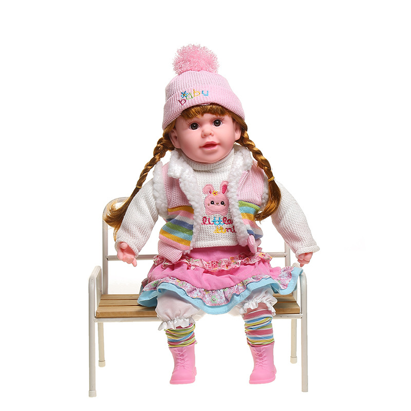 Reborn Doll Toddler 50cm Soft Silicone Reborn Baby Dolls Can Sing And Talk Spanish Kids Christmas Surprice Gifts Toys For Girls