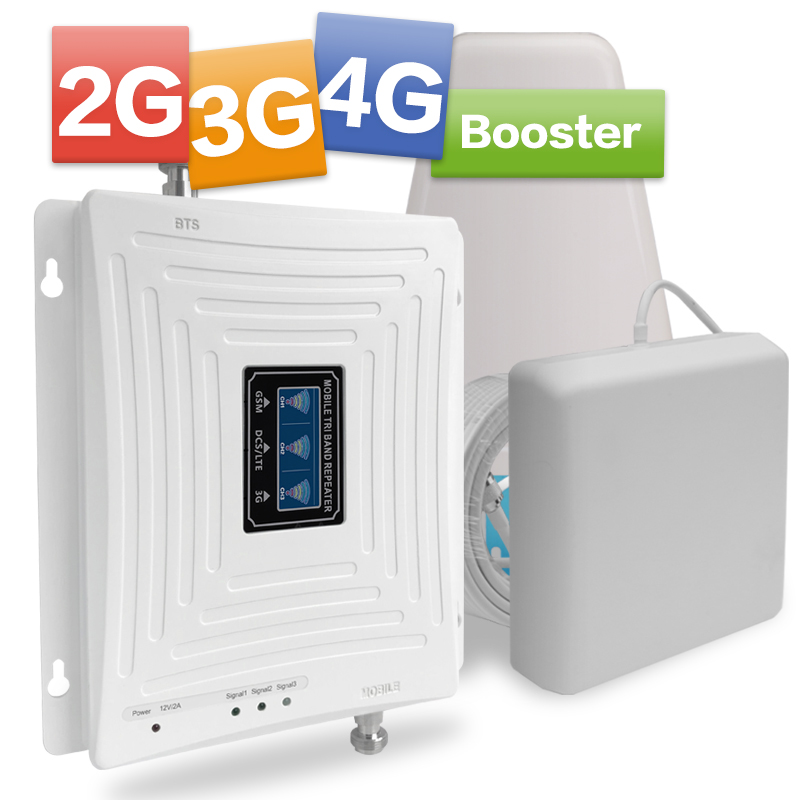 Cellular Amplifier GSM 2g 3g 4g Repeater 900 1800 2100 LTE 4g Internet Amplifier GSM Mobile Signal Repeater Cellular Booster