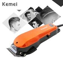 Kemei profesjonalna maszynka do włosów 10W elektryczna maszynka do włosów dla mężczyzn z 4 limitu grzebienie Barbershop ścinanie włosów maszyna do 40D