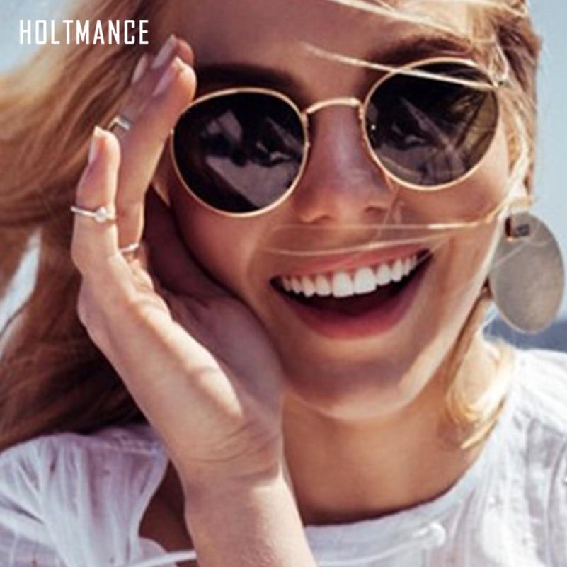 Round Sunglasses Women Polarized Sun Glasses Small Vintage Mirror Shades Luxury Female Ins Eyewear Street Fashion Gafas De Sol