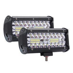 High Bright 400W LED 3 rzędy 7 cali 40000 lm robocza listwa oświetleniowa lampa do jazdy DC 9-30V 6000K lampa do pracy dla SUV ATV ciągniki siodłowe
