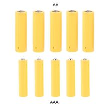 5шт LR06 AA LR03 AAA размер манекен подделка батарея установка оболочка заполнитель цилиндр провод манекен элементы для лития железа фосфата