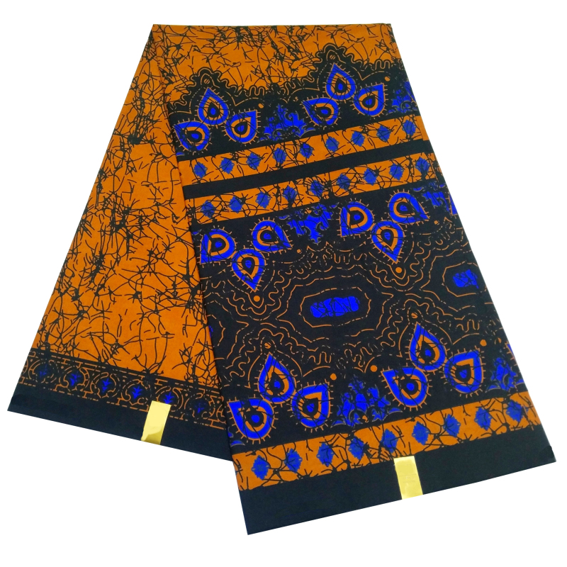 African Ankara Polyester Fabric High Quality New Design Wax African Wax Batik Cloth Clothing Fabric Real Hot Sale Design For Par