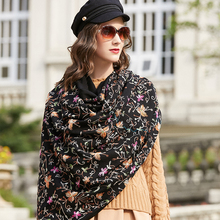 Wełna kobiety szale etole elegancki Carf ciepły szal chustka szalik luksusowa marka muzułmaninem hidżab koc plażowy szyję osłona twarzy
