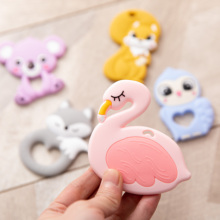 Teeth-Pendants Baby Silicone 5pcs/Lot Pacifier Chewable-Toys Swan Coon Animal Food-Grade
