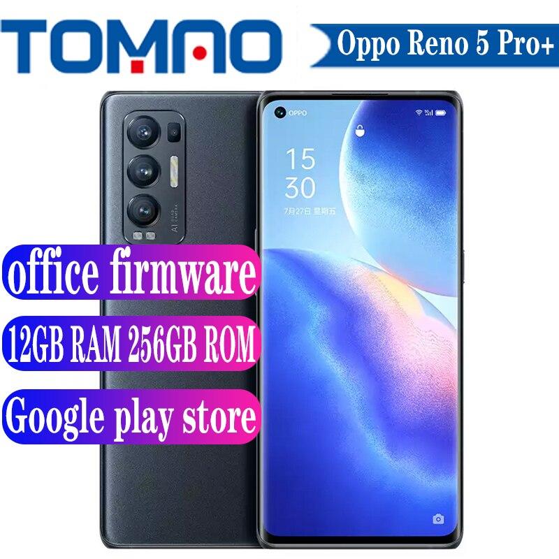 OPPO Reno 5 Pro + Plus 5G 스마트 폰 90HZ 안드로이드 11 금어초 865 8GB 12GB RAM 128GB 256GB ROM 2400X1080 4500mAh 65W 충전기