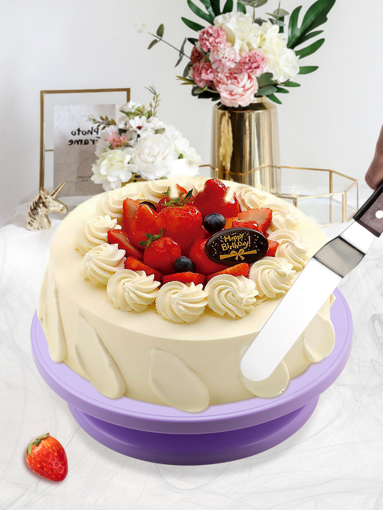 Pan-Baking-Tool Dough-Knife Cakes-Stand Decorating-Cream Rotary-Table Plastic DIY 6pcs/Set