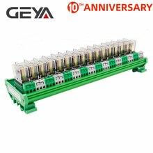 цена на GEYA NG2R 16 Channel Relay Board 1NO 1NC Din Rail Relay Module Original Omron Relay Plug