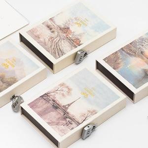 Image 2 - Livro de senha caderno com bloqueio, diário secreto para crianças adulto, criativo, grafia, caderno feminino, ilustração de página de cor