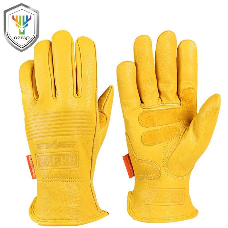 Новые мотоциклетные мото перчатки из овечьей кожи спортивные ветрозащитные Анти-холодные анти-сноуборд лыжные походные охотничьи перчатки для мужчин