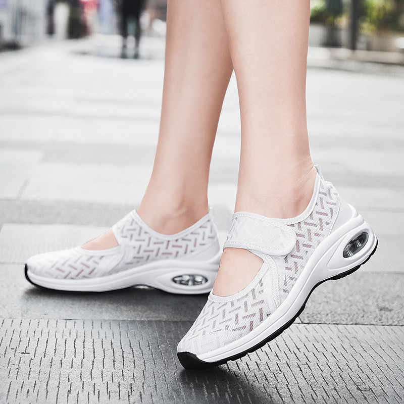 PINSEN 2020 패션 여성 플랫 신발 통기성 메쉬 캐주얼 신발 여성 크리퍼 여성 발레리나 플랫 모카신 여성 신발
