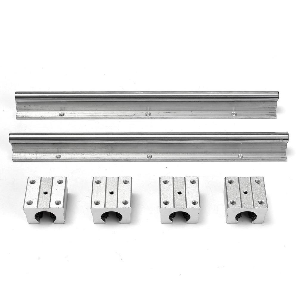 2pcs SBR16 linear guide 700 800mm ANY LENGTH 20mm Linear rails 4pcs SBR20UU Ball Bearing Block CNC Router