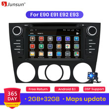 Junsun Android 8,1 Car DVD Radio para BMW Serie 3 E90 E91 E92 E93 de navegación Multimedia con RDS Bluetooth espejo enlace mapa gratuito(China)