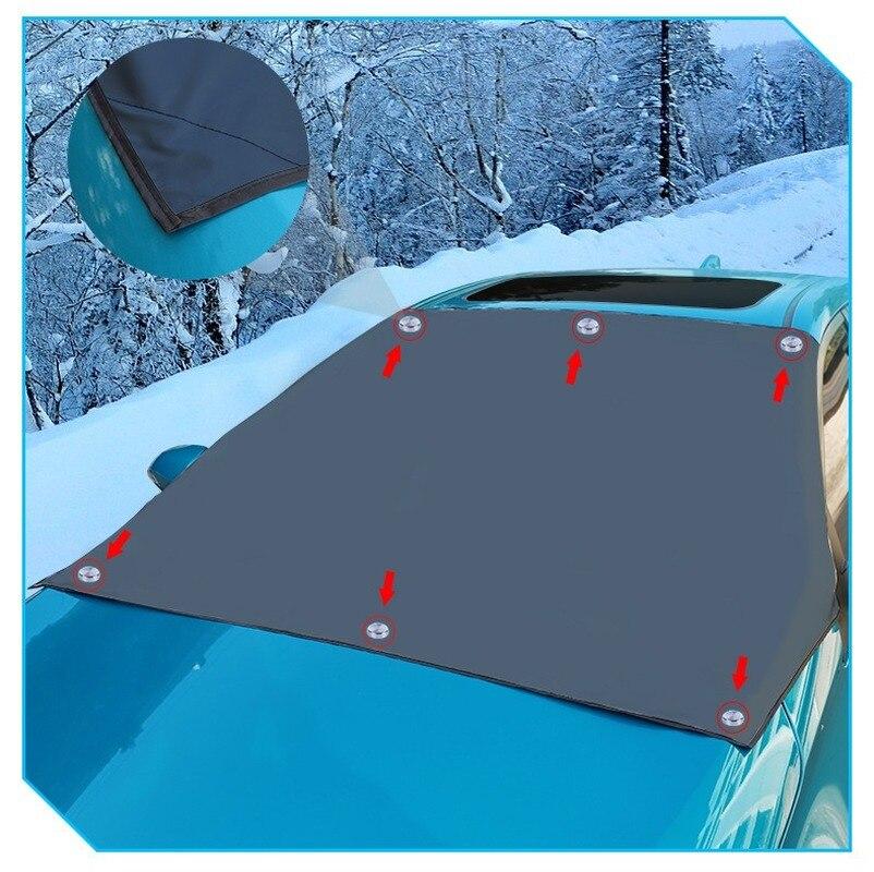 Сильный магнит, автомобильный Снежный блок, серебряная ткань, магнитный Снежный ледяной щит для лобового стекла, зимний автомобильный чехо...