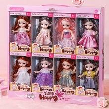 2021 nova moda boneca brinquedos para meninas bjd bonecas corpo maquiagem 3d olhos bela princesa bebê menina bonecas plástico brinquedo diy para meninas
