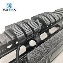 WADSN 30 шт./упак. Тактический Tactical IndexClips железнодорожные крышки Пластик для креплением для охотничьего ружья M4 AR15 направляющая для ствольной н...