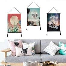 купить Graceful landscape tapestry hanging print decorative paintings household textile tapestry custom polyester tapestry 45cm*65cm дешево