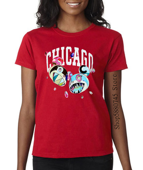 Complexon Chicago Takashi Murakami 2021 lipiec 2019 Logo ekskluzywna koszulka tanie i dobre opinie COTTON Krótki Suknem Cartoon Na co dzień O-neck
