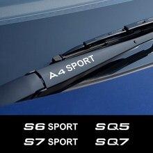 4 adet araba ön cam sileceği Sticker Audi A3 8P A4 B8 A6 S1 S2 S3 S4 S5 S6 S7 S8 SQ5 SQ7 spor oto aksesuarları vinil çıkartmaları
