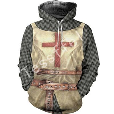 Tessffel cavalier NewFashion knight Harajuku casual 3D Printed Hoodie/Sweatshirt/Jacket/Mens Womens hiphop funny style-3