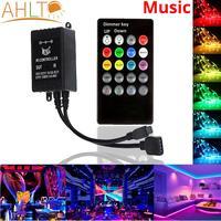 20 schlüssel IR Musik Sync Remote LED Streifen Licht Controller Sound Sensor für Licht Modul Lampe Schalter Wireless Touch 12V RGB Beleuchtung