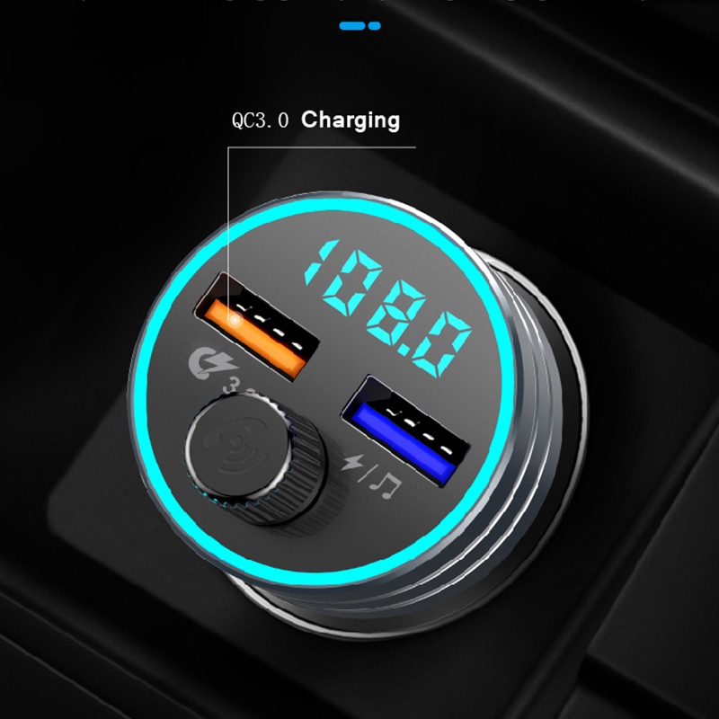 CDEN FM transmitter car mp3 music player U disk lossless music Bluetooth 5.0 receiver USB QC3.0 quick charge car handsfree call|FM Transmitters| |  - title=